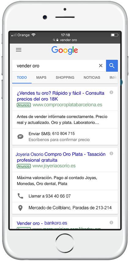 Google Adwords Vender Oro